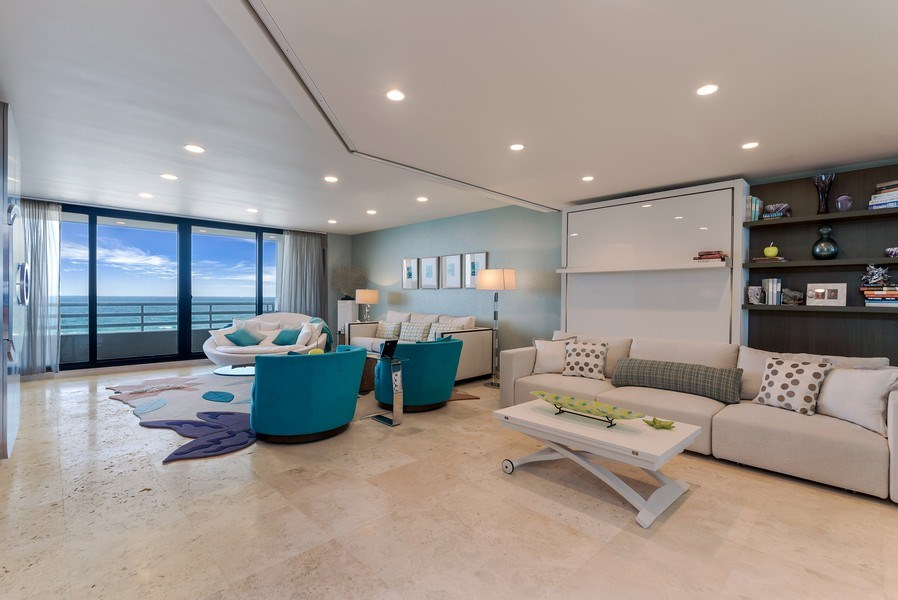 Real Estate Photography - 1400 S Ocean Blvd, Unit N604, Boca Raton, FL, 33432 - Great room