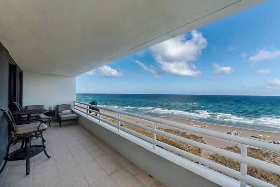 Real Estate Photography - 1400 S Ocean Blvd, Unit N604, Boca Raton, FL, 33432 - Patio