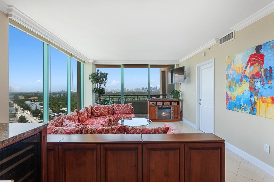 Real Estate Photography - 3350 SW 27th Ave, Unit 1907, Miami, FL, 33133 - Living Room