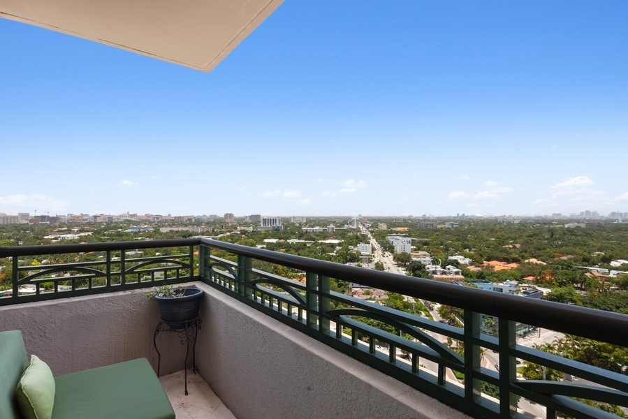 Real Estate Photography - 3350 SW 27th Ave, Unit 1907, Miami, FL, 33133 - Balcony