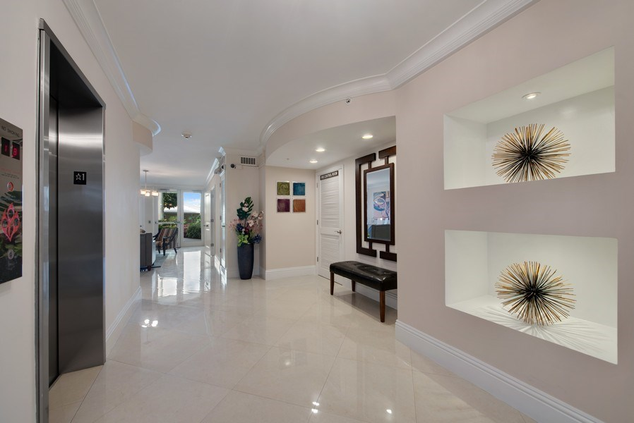 Real Estate Photography - 3224 S ocean Blvd, Apt 216B, Highland Beach, FL, 33487 - Lobby