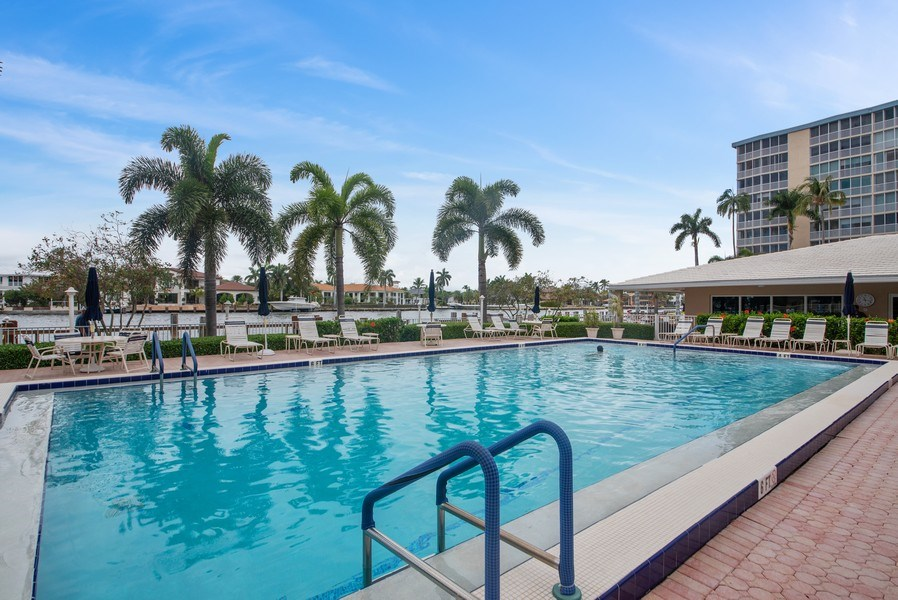 Real Estate Photography - 3224 S ocean Blvd, Apt 216B, Highland Beach, FL, 33487 - Pool