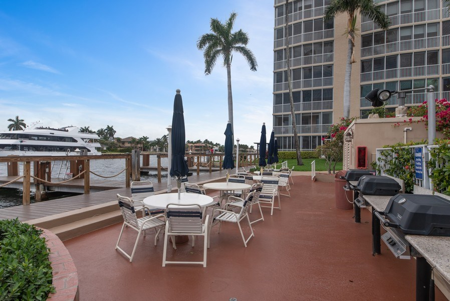 Real Estate Photography - 3224 S ocean Blvd, Apt 216B, Highland Beach, FL, 33487 - Barbeque / Picnic Area