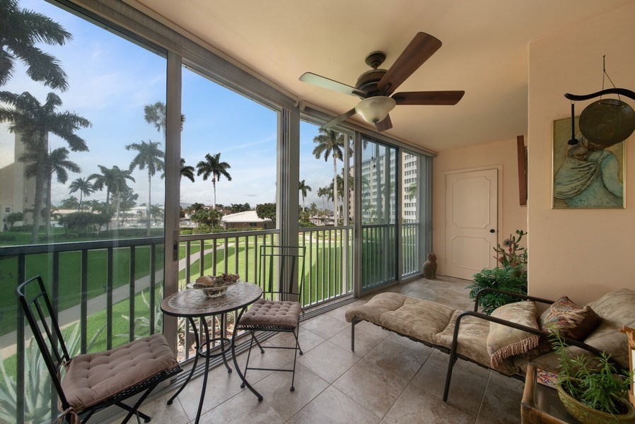 Real Estate Photography - 3224 S ocean Blvd, Apt 216B, Highland Beach, FL, 33487 - Patio