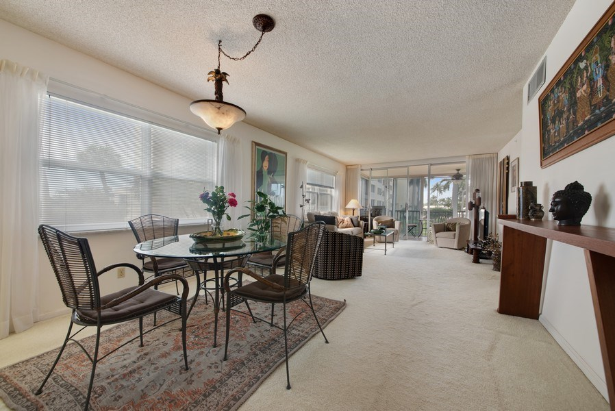 Real Estate Photography - 3224 S ocean Blvd, Apt 216B, Highland Beach, FL, 33487 - Living Room / Dining Room