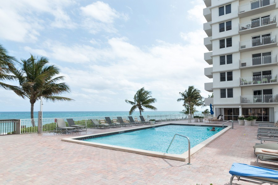 Real Estate Photography - 3215 S Ocean Blvd, Unit 707, Highland Beach, FL, 33487 - Pool