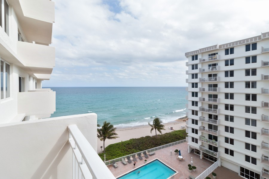 Real Estate Photography - 3215 S Ocean Blvd, Unit 707, Highland Beach, FL, 33487 - Balcony View