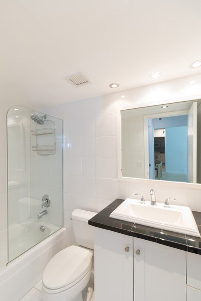 Real Estate Photography - 3215 S Ocean Blvd, Unit 707, Highland Beach, FL, 33487 - Master Bathroom
