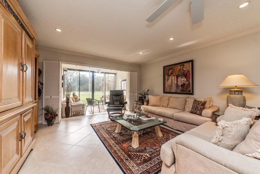Real Estate Photography - 9284 Vista Del Lago, Unit C, Boca Raton, FL, 33428 - Living Room