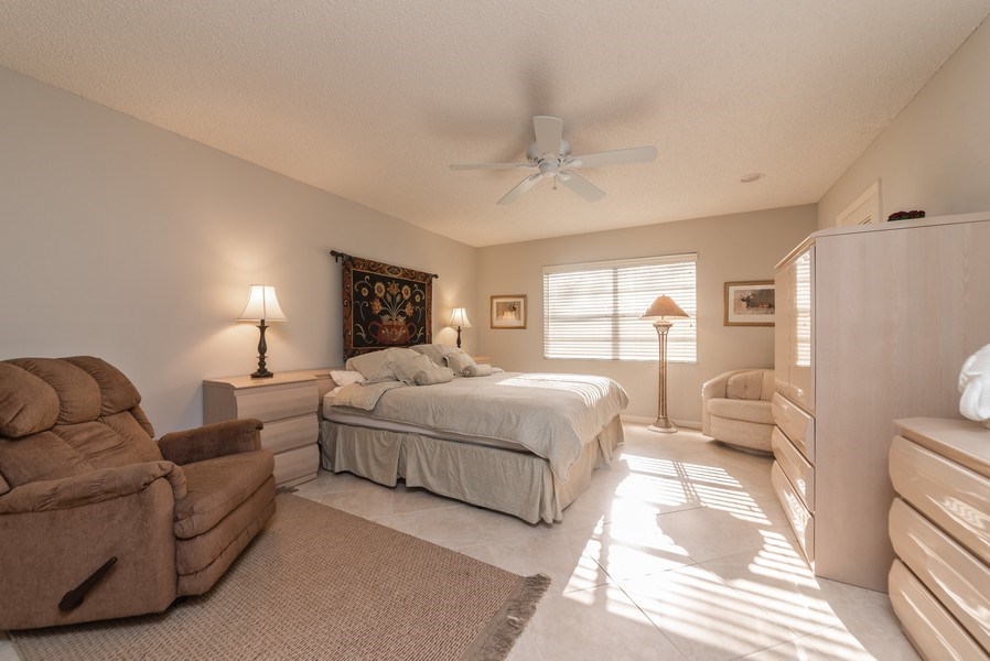 Real Estate Photography - 9284 Vista Del Lago, Unit C, Boca Raton, FL, 33428 - Master Bedroom