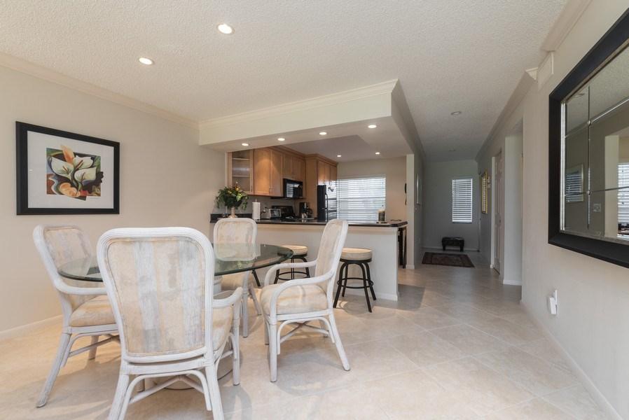 Real Estate Photography - 9284 Vista Del Lago, Unit C, Boca Raton, FL, 33428 - Foyer/Dining Room