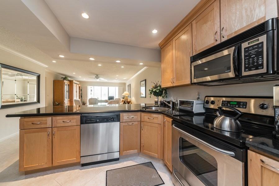 Real Estate Photography - 9284 Vista Del Lago, Unit C, Boca Raton, FL, 33428 - Kitchen / Living Room