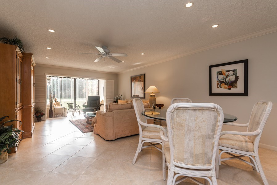 Real Estate Photography - 9284 Vista Del Lago, Unit C, Boca Raton, FL, 33428 - Living Room / Dining Room