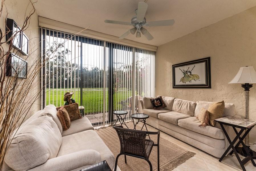 Real Estate Photography - 9284 Vista Del Lago, Unit C, Boca Raton, FL, 33428 - Sun Room
