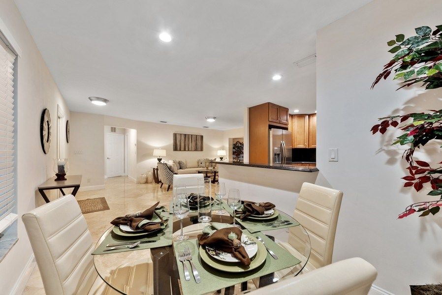Real Estate Photography - 1190 SW 14th St, 4100 NW 28th Way, Boca Raton, FL, 33486 - Living Room/Dining Room