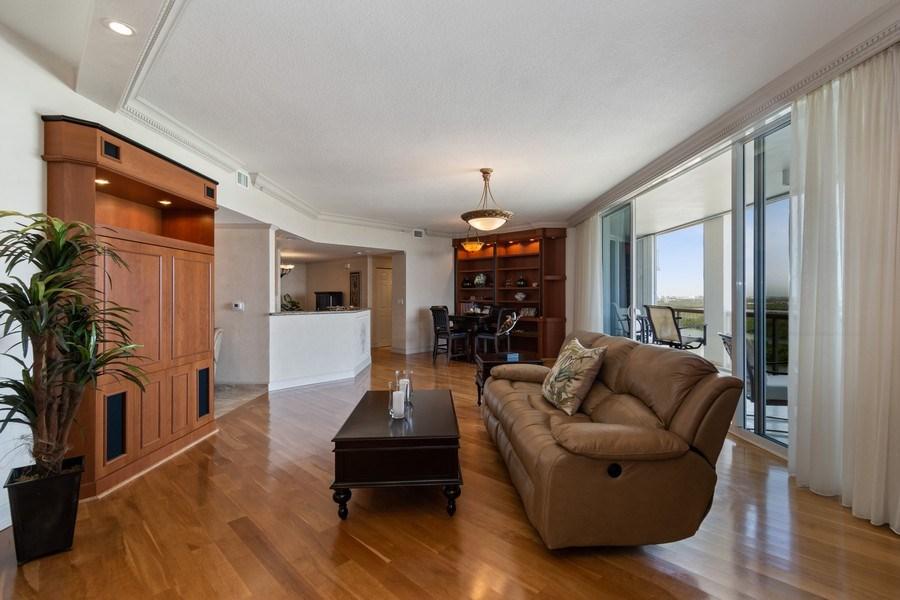 Real Estate Photography - 6051 N Ocean Dr, Unit 1703, Hollywood, FL, 33019 - Living Room
