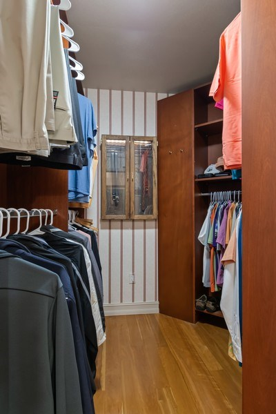 Real Estate Photography - 6051 N Ocean Dr, Unit 1703, Hollywood, FL, 33019 - Master Bedroom Closet