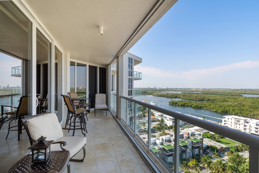 Real Estate Photography - 6051 N Ocean Dr, Unit 1703, Hollywood, FL, 33019 - Balcony