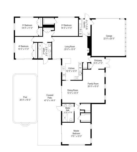 Real Estate Photography - 7900 SW 144 Street, Palmetto Bay, FL, 33158 - Floor Plan
