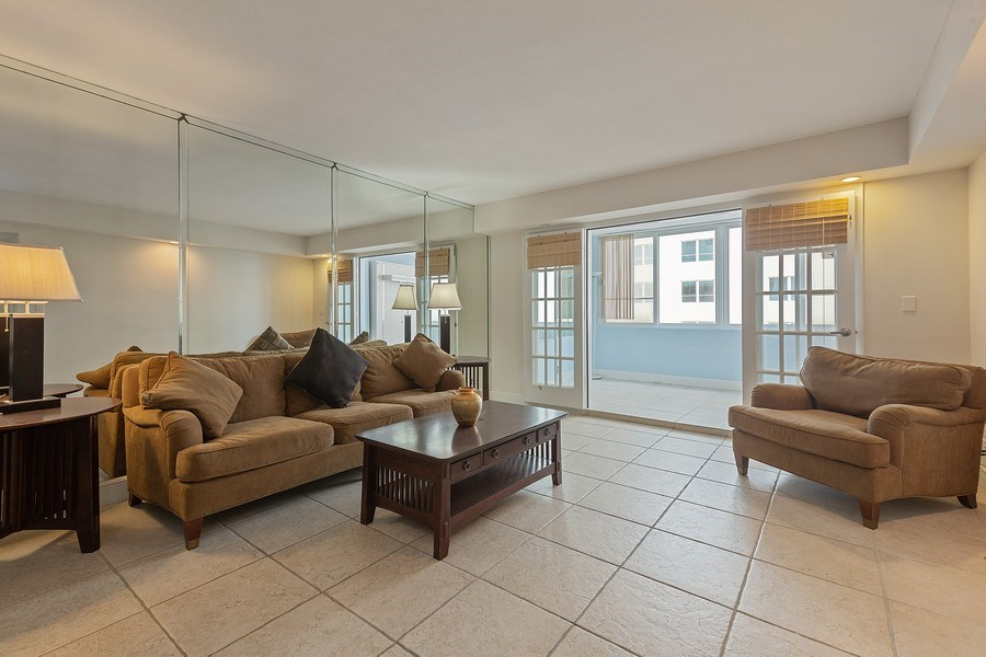 Real Estate Photography - 5005 Collins Ave, Unit 1023, Miami Beach, FL, 33140 - Living Room