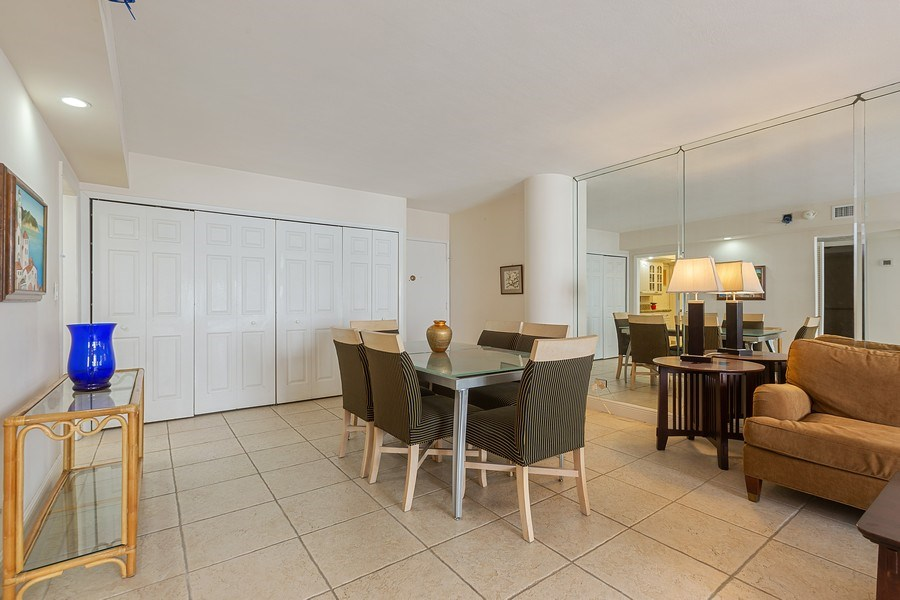 Real Estate Photography - 5005 Collins Ave, Unit 1023, Miami Beach, FL, 33140 - Dining Room