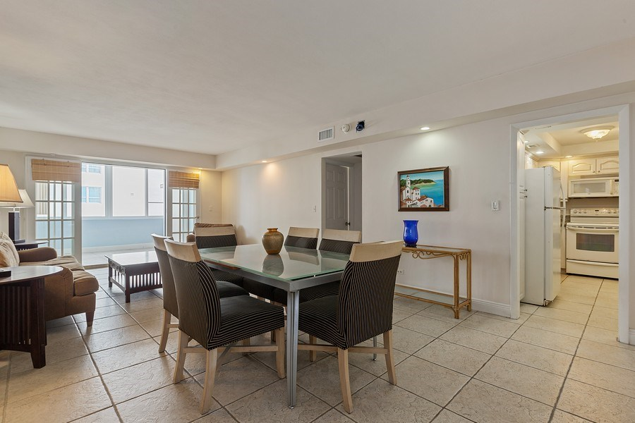 Real Estate Photography - 5005 Collins Ave, Unit 1023, Miami Beach, FL, 33140 - Living Room / Dining Room