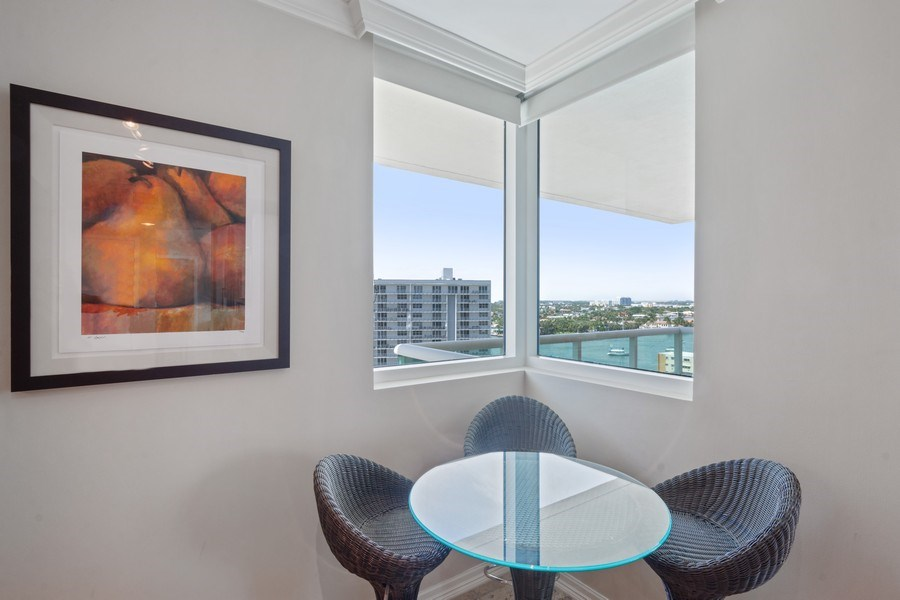 Real Estate Photography - 101 S. Fort Lauderdale Beach Blvd Apt. 1406, Fort Lauderdale, FL, 33316 - Breakfast Room