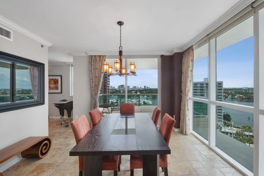 Real Estate Photography - 101 S. Fort Lauderdale Beach Blvd Apt. 1406, Fort Lauderdale, FL, 33316 - Dining Room