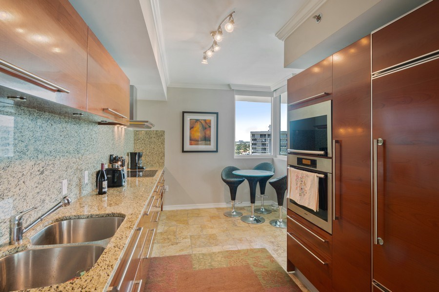 Real Estate Photography - 101 S. Fort Lauderdale Beach Blvd Apt. 1406, Fort Lauderdale, FL, 33316 - Kitchen