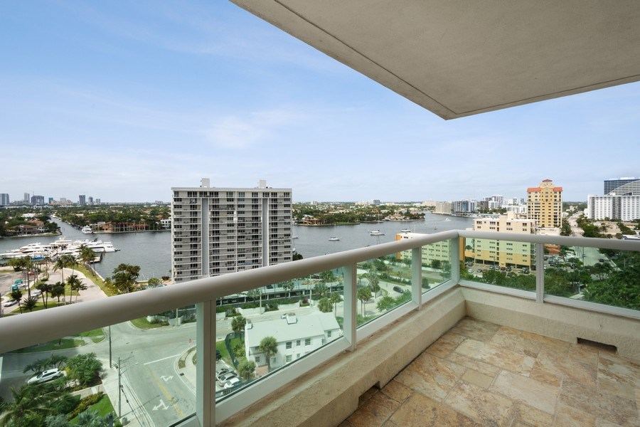 Real Estate Photography - 101 S. Fort Lauderdale Beach Blvd Apt. 1406, Fort Lauderdale, FL, 33316 - Balcony
