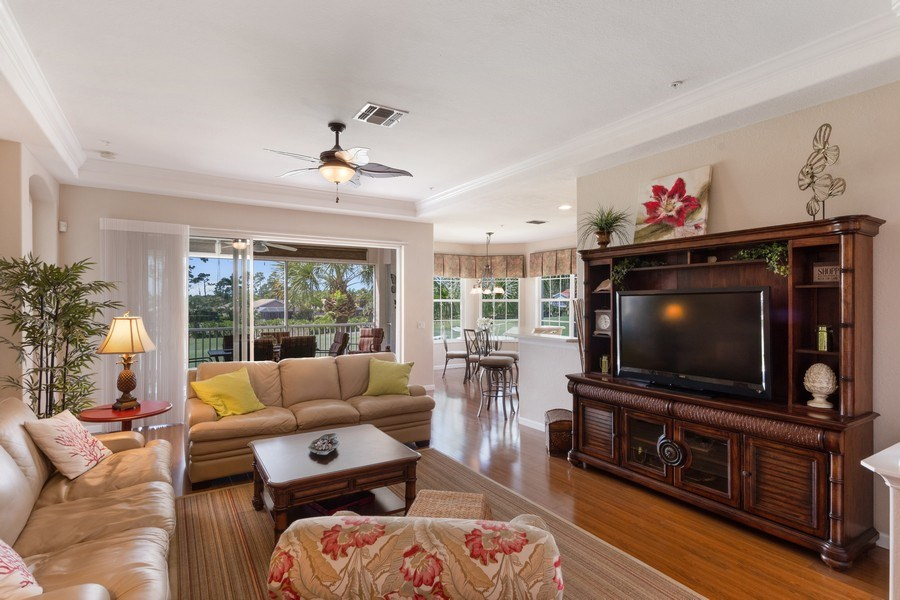 Real Estate Photography - 4655 Winged Foot Court Unit 204, Naples, FL, 34112 - Living Room