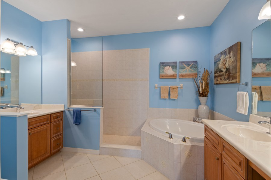 Real Estate Photography - 4655 Winged Foot Court Unit 204, Naples, FL, 34112 - Master Bathroom
