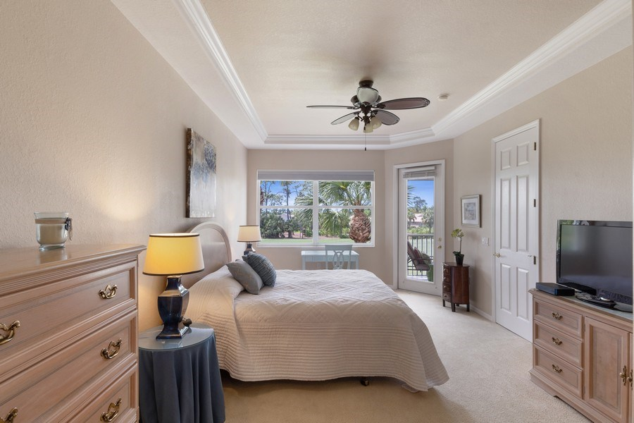 Real Estate Photography - 4655 Winged Foot Court Unit 204, Naples, FL, 34112 - Master Bedroom