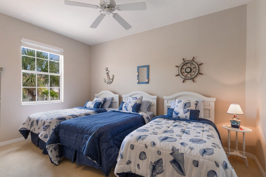 Real Estate Photography - 4655 Winged Foot Court Unit 204, Naples, FL, 34112 - Bedroom