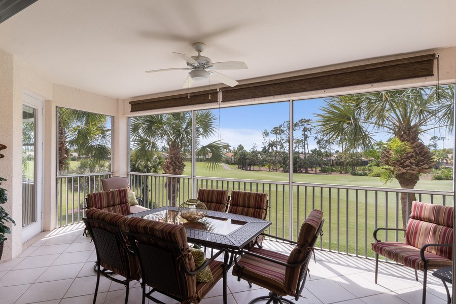 Real Estate Photography - 4655 Winged Foot Court Unit 204, Naples, FL, 34112 - Patio