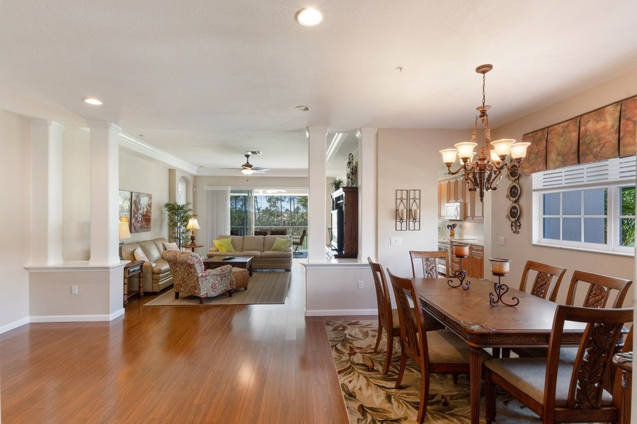 Real Estate Photography - 4655 Winged Foot Court Unit 204, Naples, FL, 34112 - Living Room / Dining Room