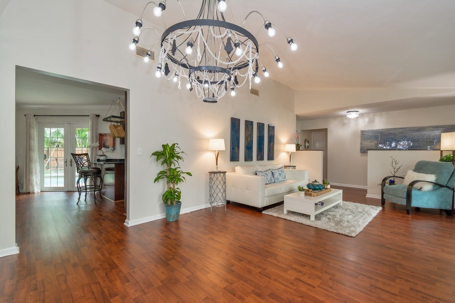 Real Estate Photography - 2434 SW 19th St, Fort Lauderdale, FL, 33312 - Living Room/Dining Room