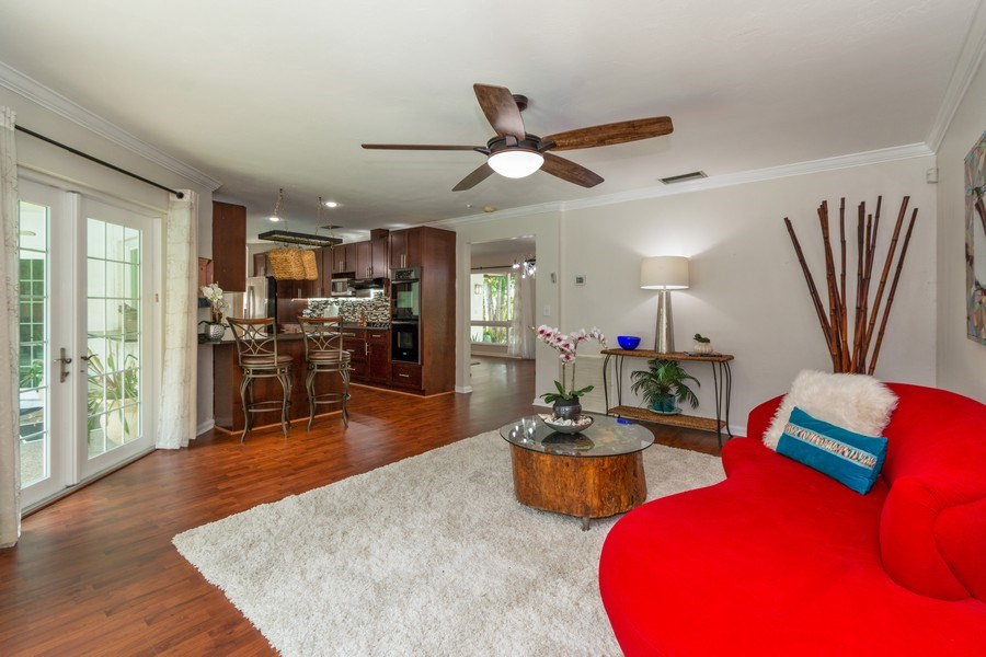 Real Estate Photography - 2434 SW 19th St, Fort Lauderdale, FL, 33312 - Family Room / Kitchen