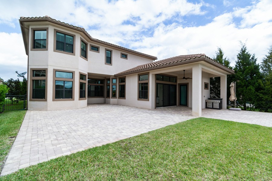 Real Estate Photography - 10262 Sweet Bay Manor, Parkland, FL, 33076 - Rear View