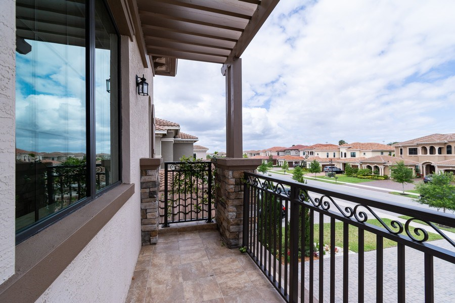 Real Estate Photography - 10262 Sweet Bay Manor, Parkland, FL, 33076 - Balcony