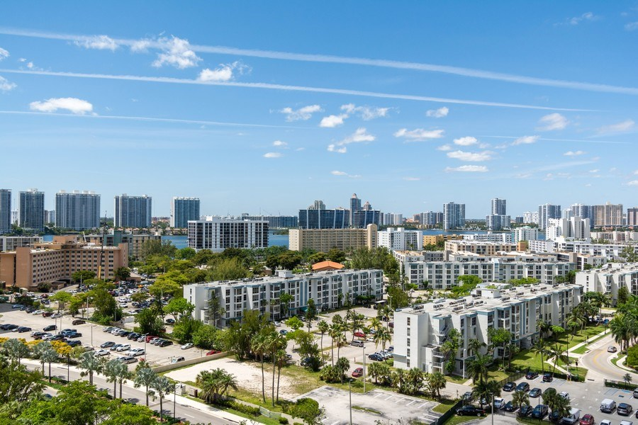 Real Estate Photography - 210 174th St, 1719, Sunny Isles Beach, FL, 33160 - View towards the Northwest