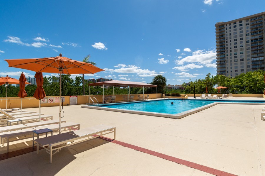 Real Estate Photography - 210 174th St, 1719, Sunny Isles Beach, FL, 33160 - Pool