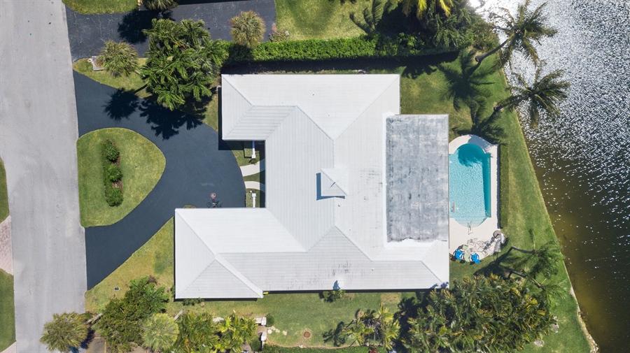 Real Estate Photography - 17 Cayuga Road, Sea Ranch Lakes, FL, 33308 - Aerial View