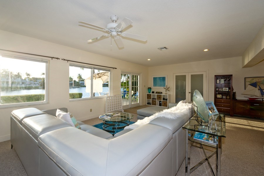 Real Estate Photography - 17 Cayuga Road, Sea Ranch Lakes, FL, 33308 - Family Room