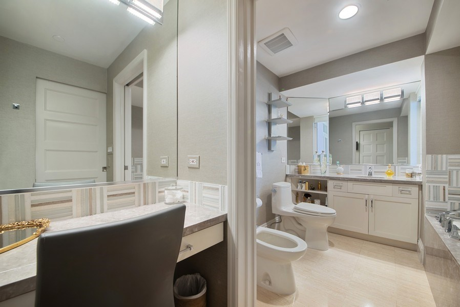 Real Estate Photography - 300 SE 5th Avenue, Unit #4080, Boca Raton, FL, 33432 - Master Her Bathroom and dressing area
