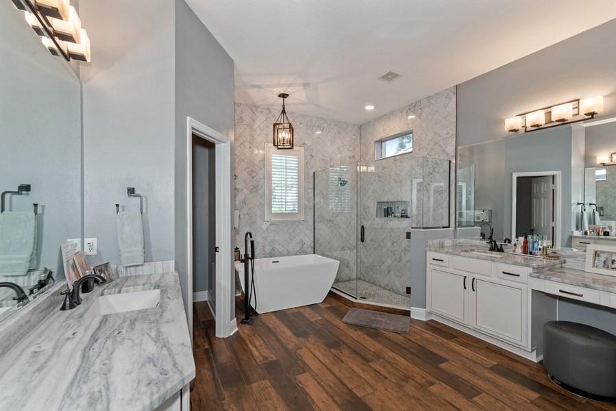 Real Estate Photography - 1068 Bloomsbury Run, Lake Mary, FL, 32746 - Master Bathroom