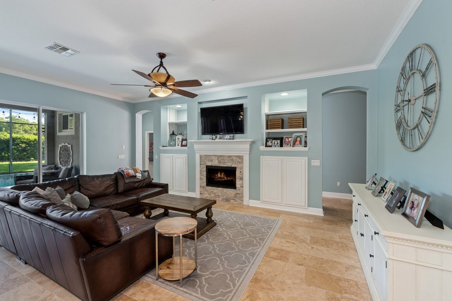 Real Estate Photography - 1068 Bloomsbury Run, Lake Mary, FL, 32746 - Family Room