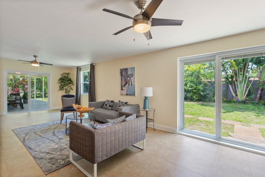 Real Estate Photography - 8600 SW 87th Ter, Miami, FL, 33143 - Living Room