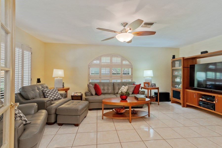 Real Estate Photography - 14300 SW 73rd Ave, Palmetto Bay, FL, 33158 - Family Room