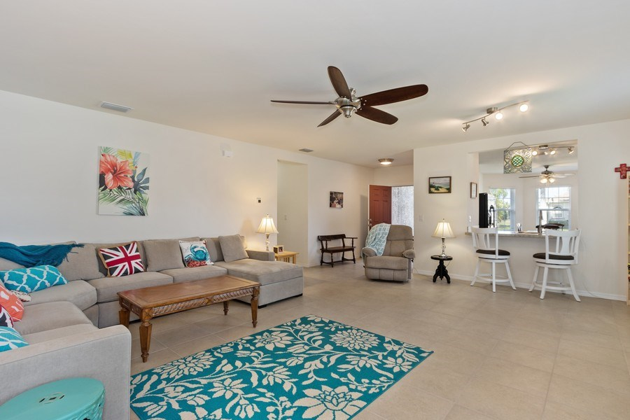 Real Estate Photography - 1405 SE 20th Pl, Cape Coral, FL, 33904 - Living Room